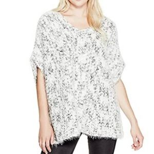 Guess Bernyce Cascade Poncho Sweater one size